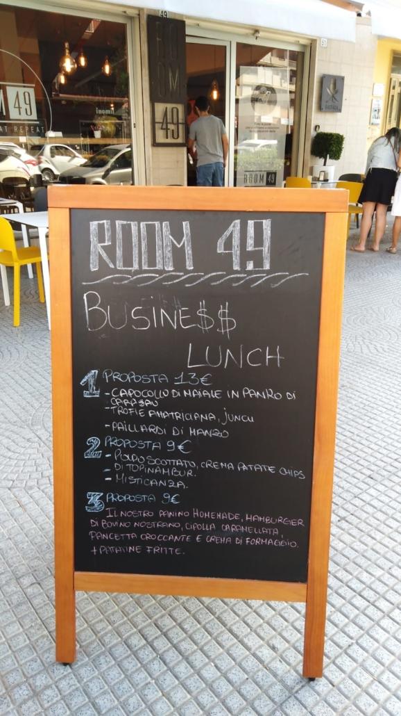 Il tuo business lunch? Da Room 49 Bistrot, a Quartu Sant'Elena