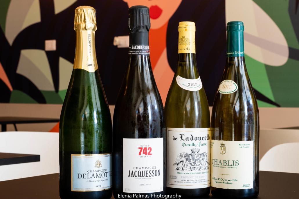 Etichette di vini francesi...da Room 49 Bistrot a Quartu Sant'Elena
