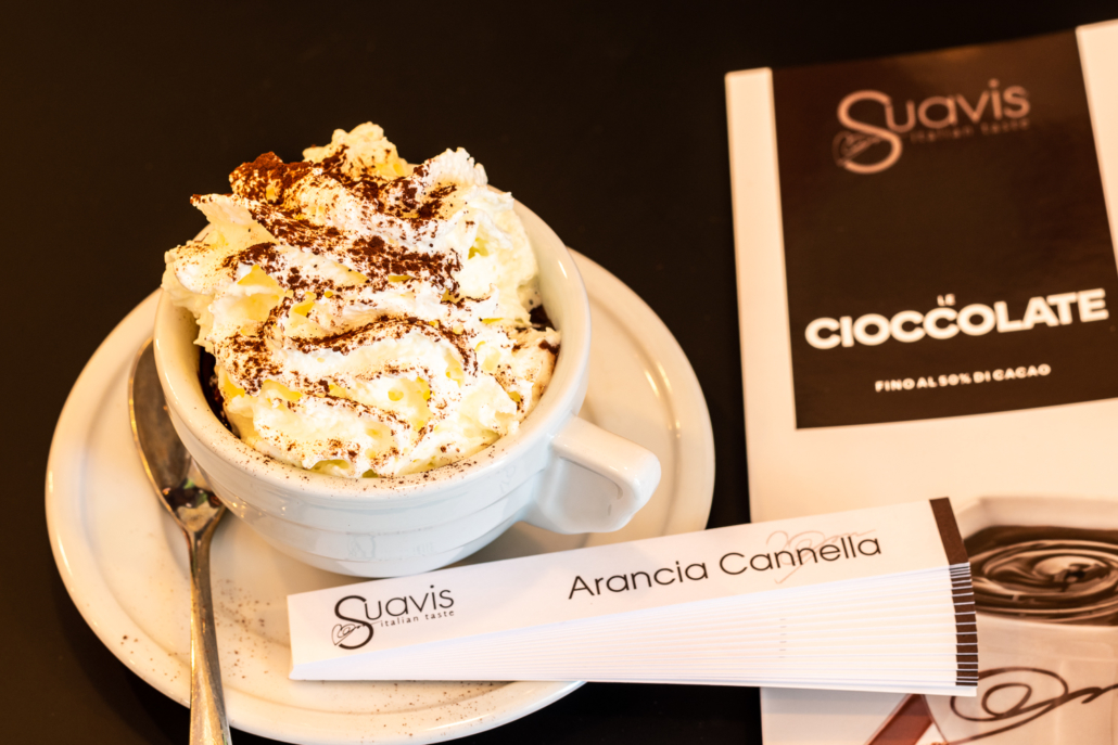 La cioccolata Suavis Italian Taste...da Room 49 Bistrot a Quartu Sant'Elena